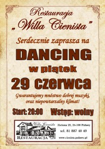 Plakat dancing 29 czerwiec 2018