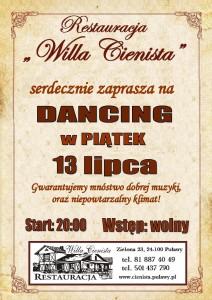 Plakat dancing 13.07.2018