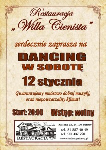 Plakat dancing 12.01.2018