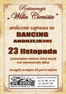 Plakat DANCING ANDRZEJKOWY 23.11.2019